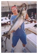 Large Coho salmon caught on the Playin' Hooky charter boat