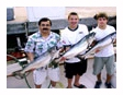 Three with Fish caught on The Playin' Hooky charter boat off Waukegan